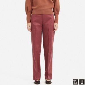 Cotton straight leg pants